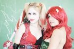 Poison Ivy and Harley Queen Cosplay by YutarnaThetys