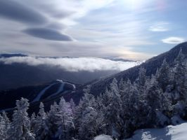 Whiteface mountain and clouds by keyDR