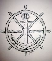 Wheel and Anchor by SynisterArtDesign