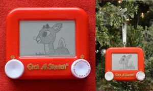 Rudolph Etch A Sketch by pikajane