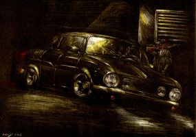 Skoda 110L Meeting in Darkness by Medvezh