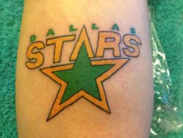 Dallas Stars Logo Tattoo by mcnasty6971