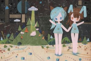 UFO Sisters by XkY
