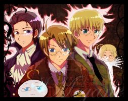 .APH:Bishies with Eye Defects. by EnitsuEmria