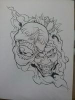 WiP Skull Demon Design by MagnaSicParvis