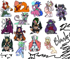 LOOKIT ALL DEM CHIBIS by LovelessKia