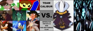 Team Calibur vs. The Nocturnus Clan by ian2x4