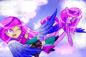 Mystical (Pony and human) by Rena-mlp-999