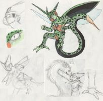 Imperfect Cell Sketchdump by RainbowReptile