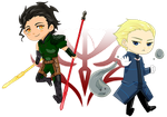 [Chibi] TEAM LANCER! by jingsgirl