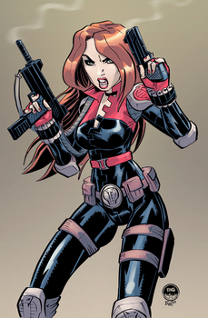Black Widow Cobra - Character Art Commission by EryckWebbGraphics