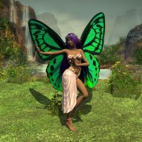 Meli the Hawaiian Butterly Fae by WickedPrince