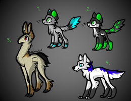 10 Point Adoptables OPEN! by thedoomedkitteh