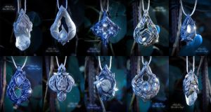 Elvish pendants collection by Gwillieth