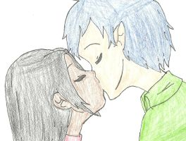 Rin and Rei-Sweet Kiss by landra15