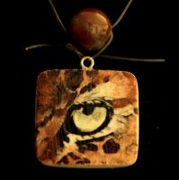 Leopard Eye Pendant Necklace by SingapuraStudio
