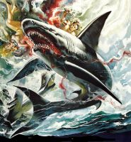 art from Night Of The Sharks by peterpulp