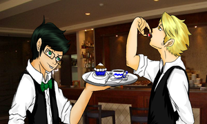 cafe blue ( dirk and jake ) by rubygaara01