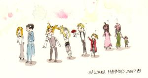 Movie Watercolour Doodle Crew by CeruleanSan