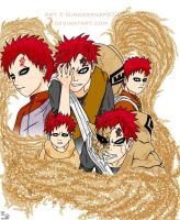 Gaara's Life Collage by Gingersnap87