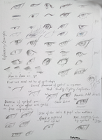 Eye tutorial (in pencil and pen) by FushigiOoka