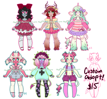 Monster Girls Adopts Auction CLOSED! by rap1993