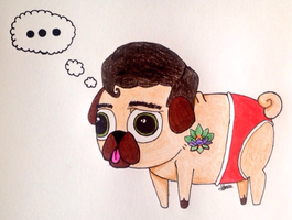 Jake Bass (is a pug?) by 0-Blinded-By-Light-0