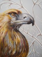 Oil pastel eagle by Nevisse
