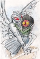 Mothman and Flatwoods Monster by killb94