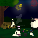 Fireworks And The Flock by AnimationFanatic