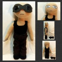 Con Plush 1 - Riddick from Pitch Black by mihijime