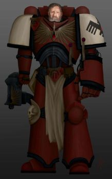 Blood Raven Space Marine by EnigmaticElocution