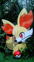Wild Fennekin Found at Play Nintendo Tour 2014 by systemcat