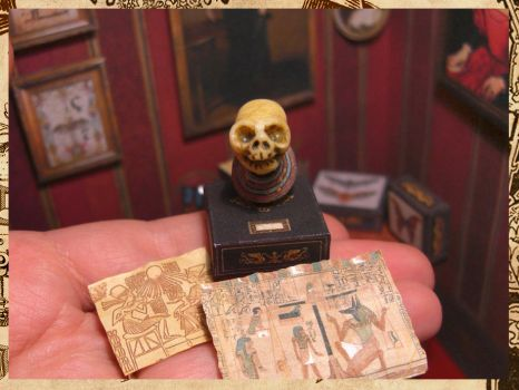 Miniature Egyptian Artificial cranial deformation2 by AnnaBellLeeArt