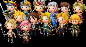 Final Fantasy Protagonists by CloudyRose06
