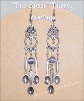 Spoon Earrings by Jofrenchie