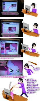 When Pinkie Pie breaks the fourth wall by DSakanumbuh419