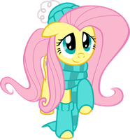 Fluttershy's autumn outfit by Mick-o-Maikeru