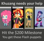 Support Khuzang and get Flash Puppets by Kanduli