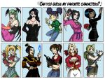 Favorite characters meme by Niban-Destikim