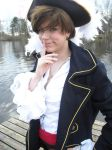 APH Pirate!Spain cosplay: Playful grin by TomatoNinjaPro