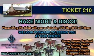 Race Night Ticket - Cancer Support Scotland by TaintedVampire