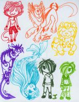 Marker Adopts-Mixed.:CLOSED:. by itsmar-Adopts