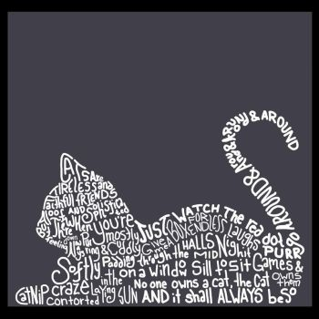 Cat Typography by WhisperRoses