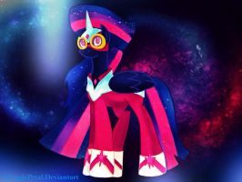 .:Nightmare Twilight Sparkle - Masked MatterHorn:. by ASinglePetal