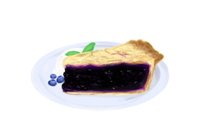 Mmm, blueberry pie by Admiral-Udon