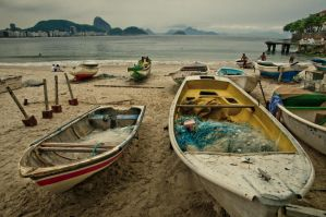 Fishermen Boats in Copacabana by somebody3121