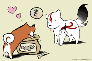 Okamiden - Meat Feedbag by ditto9