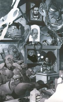 Hellboy's Trophy Room by ChristopherStevens