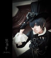 Ciel Phantomhive - Poised Elegance by lavena-lav